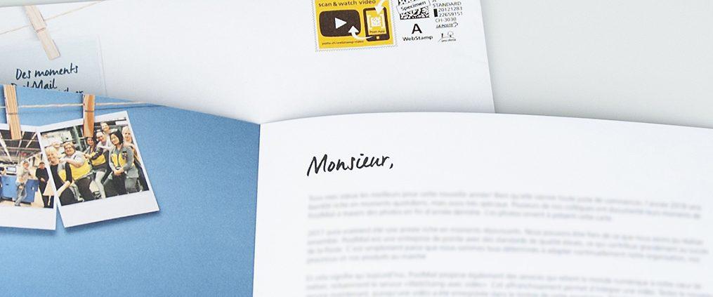 Post Mailing – Frankierung mit Videobotschaft