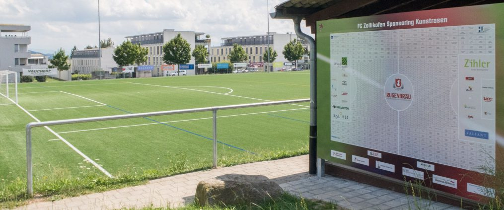 Unterstützung an den neuen Kunstrasen des FC Zollikofen